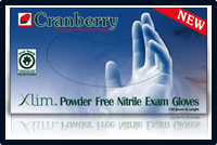 5 - 8 Mil Cranberry Xlim Powder Free Nitrile Exam Gloves