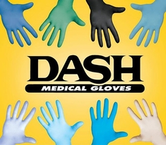 Dash Nitrile Gloves with Aloe Vera