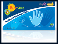 Ecobee BeeSure Powder-Free Nitrile Exam Gloves 4.7 mils