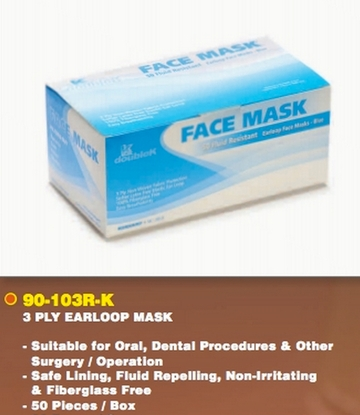 (SOLD OUT) FACE MASK / 3 Ply Earloop Mask