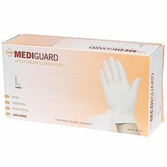 Latex Gloves, Medi-Gaurd, Lightly Powdered