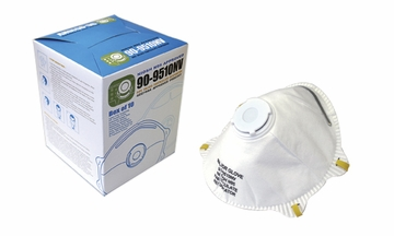 (SOLD-OUT) N95 FACE MASK PARTICULATE RESPIRATORS W / EXHALATION VALVE (100 per case) Filters Bacteria