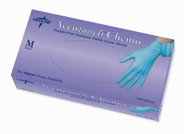Nitrile Gloves: Accutouch Chemo Exam Gloves