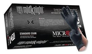 Nitrile Gloves: Black / MicroFlex MidKnight Gloves