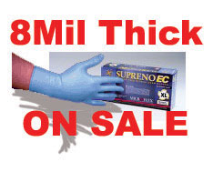 Nitrile Gloves: High Risk Gloves / 8mil Thick / Long Cuff