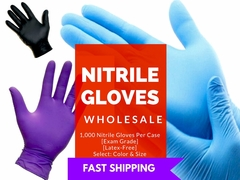 NITRILE GLOVES 2,000 Case (EXAM-GRADE) ON SALE