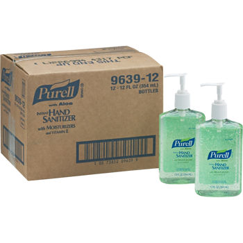 Purell Instant Hand Sanitizer with Aloe Pump Bottle 12oz