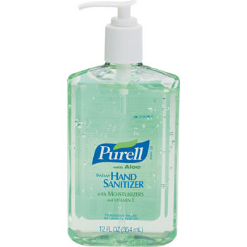 Purell Instant Hand Sanitizer with Aloe Pump Bottle 12oz GOJ 963912EA