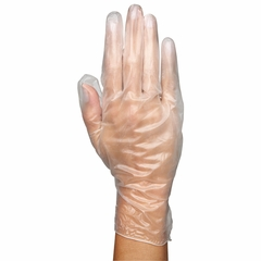 "VINYL EXAM GLOVES  12"" Long Cuff"