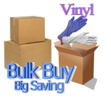 VINYL GLOVES 1,000 Per Case (Best Buy)