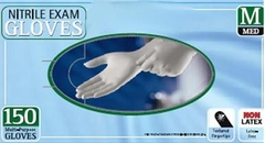 White Soft Nitrile Gloves - Case of 400