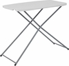 18.75''W x 29''L Height Adjustable Granite White Plastic Folding Table [RB-3020ADJ-RES-GG]