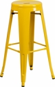 30'' High Backless Yellow Metal Indoor-Outdoor Barstool with Round Seat [CH-31350-30-YL-GG]