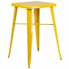 23.75'' Square Yellow Metal Indoor-Outdoor Bar Height Table [CH-31330-YL-GG]