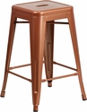 24'' High Backless Copper Indoor-Outdoor Counter Height Stool [ET-BT3503-24-POC-GG]