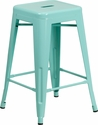 24'' High Backless Mint Green Indoor-Outdoor Counter Height Stool [ET-BT3503-24-MINT-GG]