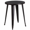 24'' Round Black-Antique Gold Metal Indoor-Outdoor Table [CH-51080-29-BQ-GG]