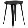 24'' Round Black Metal Indoor-Outdoor Table [CH-51080-29-BK-GG]
