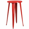 24'' Round Red Metal Indoor-Outdoor Bar Height Table [CH-51080-40-RED-GG]