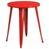 24'' Round Red Metal Indoor-Outdoor Table [CH-51080-29-RED-GG]