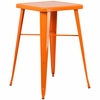 23.75'' Square Orange Metal Indoor-Outdoor Bar Height Table [CH-31330-OR-GG]