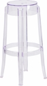 29.75'' High Transparent Barstool [FH-118-APC2-GG]