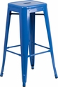 30'' High Backless Blue Metal Indoor-Outdoor Barstool with Square Seat [CH-31320-30-BL-GG]