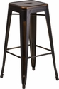 30'' High Backless Distressed Copper Metal Indoor-Outdoor Barstool [ET-BT3503-30-COP-GG]