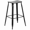 29.75'' High Black Metal Indoor-Outdoor Saddle Comfort Barstool [ET-3604-30-BK-GG]