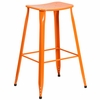 29.75'' High Orange Metal Indoor-Outdoor Saddle Comfort Barstool [ET-3604-30-OR-GG]