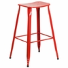 29.75'' High Red Metal Indoor-Outdoor Saddle Comfort Barstool [ET-3604-30-RED-GG]