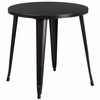 30'' Round Black-Antique Gold Metal Indoor-Outdoor Table [CH-51090-29-BQ-GG]