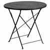 30'' Round Black Indoor-Outdoor Steel Folding Patio Table [CO-4-BK-GG]