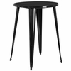 30'' Round Black Metal Indoor-Outdoor Bar Height Table [CH-51090-40-BK-GG]