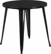 30'' Round Black Metal Indoor-Outdoor Table [CH-51090-29-BK-GG]