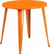 30'' Round Orange Metal Indoor-Outdoor Table [CH-51090-29-OR-GG]