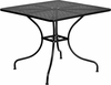 35.5'' Square Black Indoor-Outdoor Steel Patio Table [CO-6-BK-GG]