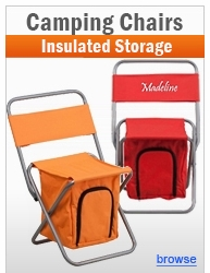 Adult/Kids Folding Camping Chairs with Insulated Storage Compartments