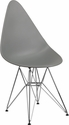 Allegra Series Teardrop Moss Gray Plastic Chair with Chrome Base [FH-251-CPP-GY-GG]