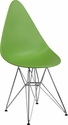 Allegra Series Teardrop Green Plastic Chair with Chrome Base [FH-251-CPP-GN-GG]