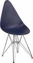 Allegra Series Teardrop Navy Plastic Chair with Chrome Base [FH-251-CPP-NY-GG]
