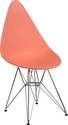 Allegra Series Teardrop Peach Plastic Chair with Chrome Base [FH-251-CPP-PE-GG]
