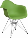Alonza Series Green Plastic Chair with Chrome Base [FH-132-CPP1-GN-GG]