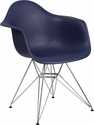 Alonza Series Navy Plastic Chair with Chrome Base [FH-132-CPP1-NY-GG]