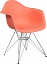Alonza Series Peach Plastic Chair with Chrome Base [FH-132-CPP1-PE-GG]