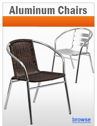 Aluminum Outdoor Restaurant Chairs