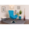 Egg Series Aqua Fabric Side Reception Chair [CH-162430-AQ-FAB-GG]