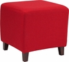 Ascalon Upholstered Ottoman Pouf in Red Fabric [QY-S09-RD-GG]