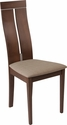 Avalon Walnut Finish Wood Dining Chair with Clean Lines and Magnolia Brown Fabric Seat [ES-CB-2403YBH-W-CR-GG]