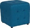 Avendale Tufted Upholstered Ottoman Pouf in Blue Fabric [QY-S02-BLU-GG]